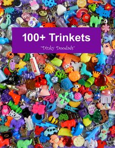 100+ trinkets. NO DUPLICATES! Great gift for teachers! We have worked hard to provide you with the greatest variety of trinkets you will find anywhere, along with the best prices...AND...the more you buy the more you save! Our sets include small toys, novelty beads and buttons, miniatures, cabochons, charms, and pendants, to be used for I Spy bags, educational toys, party games, geocaching, and crafts. Looking for larger quantities with no duplicates? Go to our MIXED TRINKETS, I SPY…