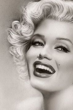 Marilyn Monroe Fine Art Print (close up) by Melody Owen | This image first pinned to Marilyn Monroe Art board, here: http://pinterest.com/fairbanksgrafix/marilyn-monroe-art/ || #Art #MarilynMonroe: