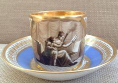 DAGOTY PARIS PORCELAIN CUP & SAUCER C.1810 _BM