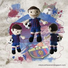Jorge futbolista amigurumi fan del Barça.