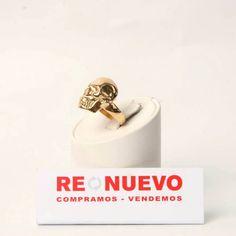 Anillo de segunda mano forma de calavera de oro de 18 kts E276725L   Tienda online de segunda mano en Barcelona Re-Nuevo
