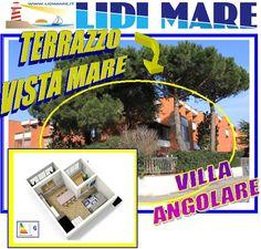 VILLA TERRA CIELO CON GRANDE GIARDINO ANGOLARE E TERRAZZO VISTA MARE. OCCASIONE IMPERDIBILE.  http://www.lidimare.com/ville-lidi-mare/occasione-villa-angolare-lido-nazioni_648c8.html