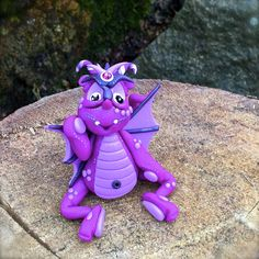 Polymer Clay Dragon 'Bugsy' Limited Edition by KatersAcres