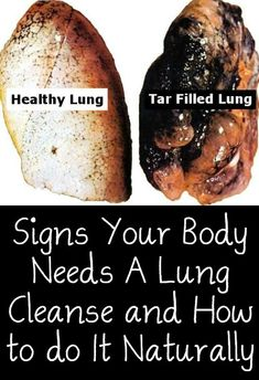 Signs Your Body Needs A Lung Cleanse and How to do It Naturally ~ http://positivemed.com/2015/01/15/signs-body-needs-lung-cleanse-naturally/