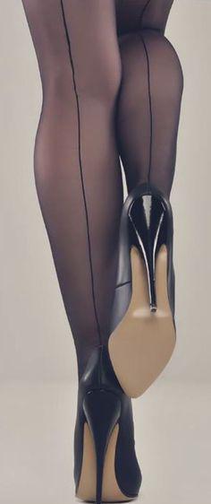 killer heels and seems. Pantyhose Heels, Stockings Heels, Stockings And Suspenders, Stockings Lingerie, Sexy High Heels, Sexy Legs And Heels, Stilettos, Stiletto Heels, Sexy Stiefel