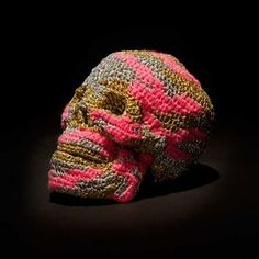 The End Is Far by Olek - Camouflage crochet in a site-specific installation at Jonathan LeVine