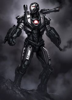 Iron Man 3 Armor Concept Designs by Andy Park - War Machine