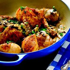 Once More with the Braiser! Pot-Roasted Chicken with Fresh Herbs #food #chicken