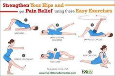 Hip Strengthening Exercises, Hip Flexor Exercises, Yoga Exercises, Back Exercises, Fitness Exercises, Hip Pain, Knee Pain, Back Pain, Pilates