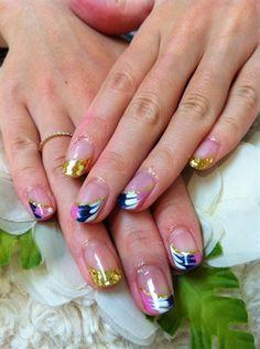 Peacock Gel nails by NailsbyAyano