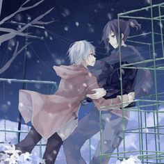 no 6 fanart based on the ed animation shion x nezumi
