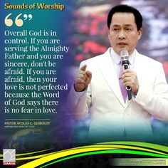 Pastor Apollo C. A Protagonist of the Divine Love of the Almighty Father. Spiritual Enlightenment, Spirituality, Son Of God, Dont Be Afraid, Facebook Sign Up, Apollo, Worship, Father, Sayings