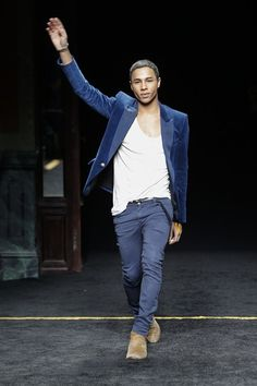 OLIVIER ROUSTEING has had a busy week. Not only has he presented his eighth applauded collection for Balmain, but he has hit the one-million-followers mark on Instagram