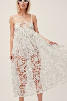 Sundae Tank Midi Dress – For Love & Lemons Dresses For Sale, Cute Dresses, Holiday Lingerie, Floral Bodysuit, Silk Mini Dress, Red Fashion, Fashion Brand, Spring Fashion, Floral Midi Dress