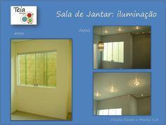 Projeto da Teia Design, elaborado por Monika Kick e Cláudia Gieseke - Iluminação Sala de Jantar