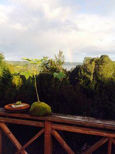 Atardecer en arco iris