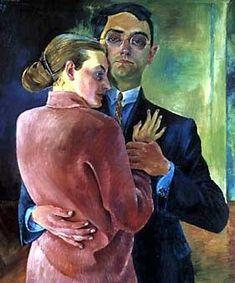 Conrad Felixmuller, Self-portrait with his wife