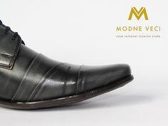 Elegantné pánske kožené topánky v zaujímavej farbe čierno-sivej