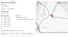 24-10-2013 14:10 Giftcard kan niet online worden gebruikt, dus naar dichtstbijzijnde McGregor winkel waar ze ook dameskleding verkopen.