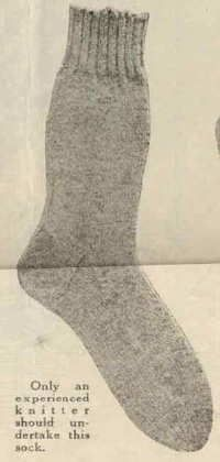 I want to get my knitting skills up to the challenge of a pair of socks from a WWI pattern.