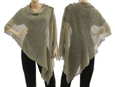 Hey, I found this really awesome Etsy listing at http://www.etsy.com/listing/161816193/artsy-boho-knitted-linen-poncho-wrap