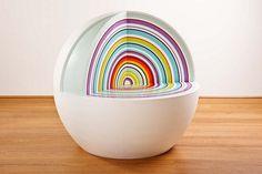 Bubble Bum chair made with DuPont™ Corian® by Design Village, design Stuart Melrose. #corian