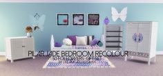 Pilar's Jade bedroom recolor at DreamCatcherSims4 via Sims 4 Updates