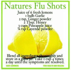 Natural flu remedy for when you get the flu.