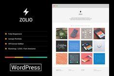 Zolio - Responsive Minimal Portfolio by YoArts on @creativemarket