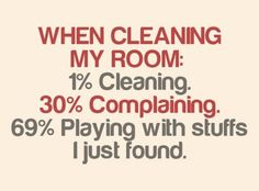 This is TOTALLY how I cleaned my room as a kid! I still kinda clean like this. HAHAHA @Dee Ashton