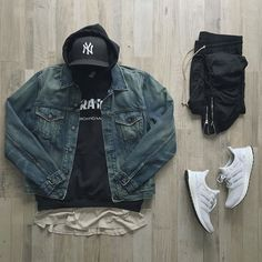 Outfit grid - Casual denim jacket