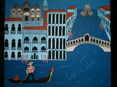 """Venice"" The Lonesome Traveler Series SOLD  Acrylic on canvas H 20""  W 24"" for purchase contact JoeyCalveri@gmail.com"