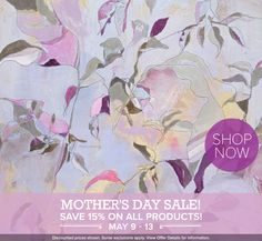 Mother's Day Sale – Save 15% on all contemporary wall art decor and artwork for the home through Monday!