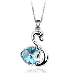 Gifts For Girls Swan Crystal Pendant Cute Necklace Small Necklace Cheap Costume Jewelry Party Birthday Gifts For Females 6 Color