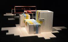 Transformations installation by Maarten de Ceulaer for Fendi materials furniture 2 exhibit design