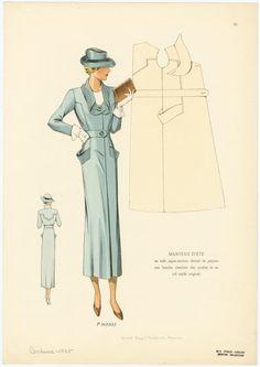 Parisian Fashion Plate | Daywear (1935)