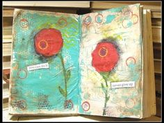 CRACKLE EFFECT WITH ELMERS GLUE! Time lapse video sharing art journal process. Beautiful artwork!