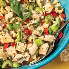 Roasted Lemon-Chicken Salad #recipe -- Who says you need mayo to make #chicken salad?
