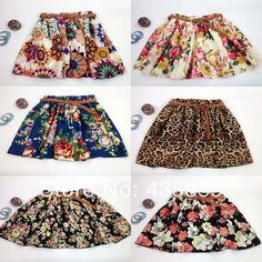 Free Shipping 2014 Vintage New Fashion Leopard Summer Chiffon Women Skirts Casual Floral Summer Dress Short Skirts WS001 US $5.99