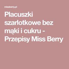 Placuszki szarlotkowe bez mąki i cukru - Przepisy Miss Berry