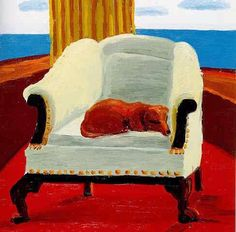 Chair with Stanley, 1988 by David Hockney on Curiator, the world's biggest collaborative art collection. David Hockney Artwork, Illustrations, Illustration Art, Pop Art, Chair Drawing, Arte Dachshund, Dog Paintings, Artist Painting, Art Inspo