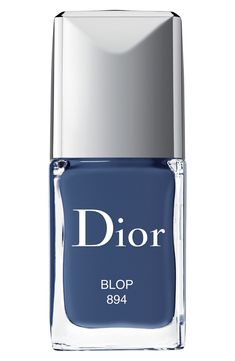 Dior Vernis Gel Shine & Long Wear Nail Lacquer – Pandore - Fashitaly All Pictures Dior Nail Polish, Dior Nails, Bright Nail Polish, Gel Nail Varnish, Nail Lacquer, Bright Nails, Blue Nail, Make Up, Blue Nails