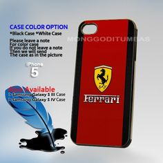 Ferrari logo, Photo Hard Plastic iPhone 5 Case Cover   MonggoDiTumbas - Accessories on ArtFire