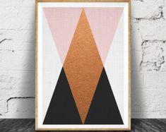 Abstract Black and White Wall Art Print Geometric от lilandlola