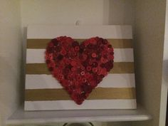 Valentines craft with buttons