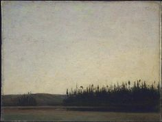 Tom Thomson, The Silent Lake, 1913 (Canadian, 1877 – 1917), Oil on canvas, 38.5 x 50.4 cm, National Gallery of Canada. Thank you, chasingtailfeathers.