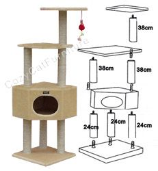 cat gyms - Google Search Google Cats, Cat Tree Plans, Frontline Plus For Cats, Cat Gym, Diy Cat Tree, Cat Towers, Cat Condo, Cat Behavior, All About Cats
