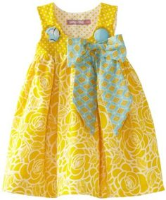 Amazon.com: Jelly The Pug Baby-Girls Infant Poem Puffy Yellow Dress, Yellow, 18 Months: Clothing