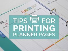 A popular question that comes up when creating your perfect planner is about printing planner pages. I want to share with you my tips, tricks + design secrets so you can enjoy this part of setting up your planner.