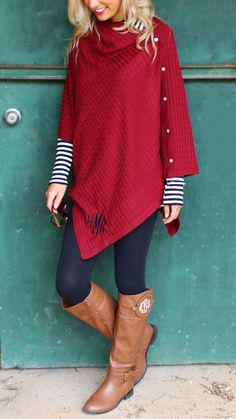 Get this NEW Monogrammed Poncho while it's on sale at Marleylilly.com!
